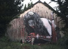 Street Art by MTO #pavement #art #street