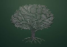 Pieces tree using small objects by Sarah Illenberger #art #tree