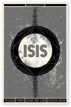 SCOTT CAMPBELL #black #white #isis #poster
