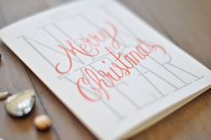 Merry Christmas Happy New Years Letterpress by WednesdayPress #christmas #card #letterpress
