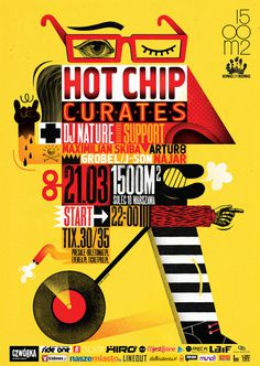 HOT CHIP CURATES! / POSTER / 2014 on Behance #poster