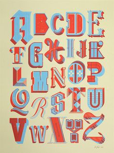 Drop Cap Alphabet Poster