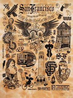 supersonic electronic / art Mike Giant. (Now on Tumblr!!) #giant #mike #tattoo #sf #sheet #flash