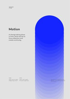Motion – The Principles of Design poster serie by Gen Design Studio