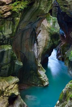 Austria The Dark Gorge #rocks #nature #water #austria