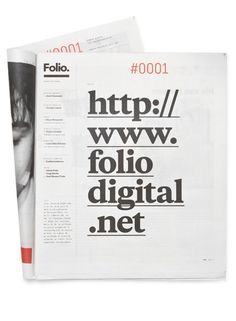 Folio. #print #design #editorial #newspaper