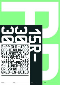 Print-Process / Product / PP Launch poster (A) #typography