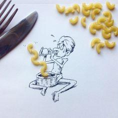 Creative Illustrations Using Everyday Objects #illustration #art #inspirations