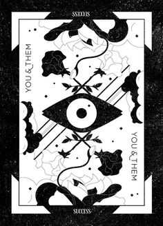You & Them Tarot Card #design #identity #black #blackwhite #tarot