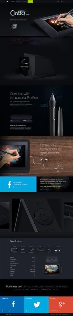 Cintiq13HD Campaign Page on Behance #web