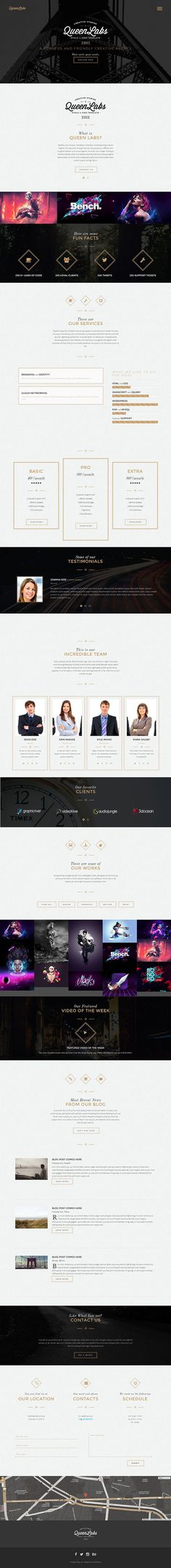 Queen - Responsive OnePage WordPress Theme on Behance #web