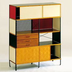 Eames Storage Unit 421-C, Charles Eames, Ray Eames #modular #storage #product #unit #furniture #eames