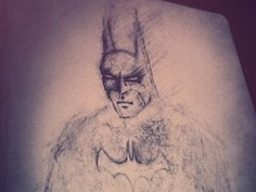 Dribbble - Dark Knight - Late Night Sketch by Drew Wilson
