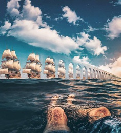 Dreamlike and Whimsical Photo Manipulations by Justin Main
