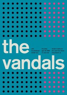 the vandals at fender's ballroom, 1989 - swissted #print #design #graphic #poster