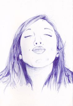 Tumblr #blue #biro #girl #kiss