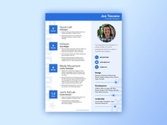 Free Sketch Resume Template with Material Style Design