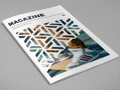 Modern Cool Pattern Magazine. Download here: https://goo.gl/uKt25j  #magazine #pattern #photography #minimal #template #brochure