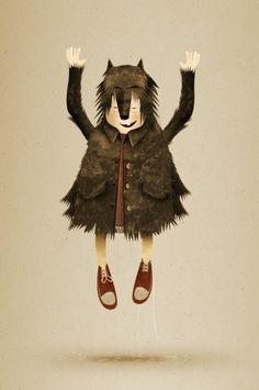 Little Red Riding Hood and the Wolf on the Behance Network #riding #little #hood #red