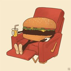 FFFFOUND! | Matt Leyen / ninthwheel #drink #burger