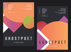 Ghostpoet tour posters from Studio Beuro #beuro #shape #studio #poster #gradient #colour #ghostpoet #tour