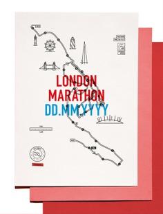London Marathon Illustrated Map Print