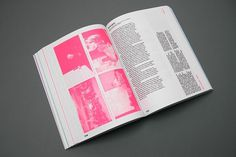 The Berlage Survey : The Exercises #pink #fluorescent #book #typography