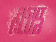 Fight Club Soap Art #fight #club #soap #art #pink #bubbles