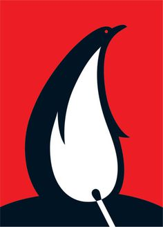 Baubauhaus. #logo #illustration #penguin