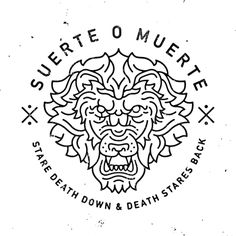 #lion #blackandwhite #design #graphicdesign #print #suerte #muerte #badge #crest #illustration #death