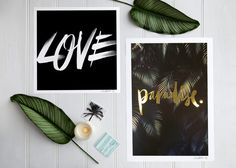 Paradise Gold Foil Print (Large) #blacklist #aesthetic #minimal #workspace