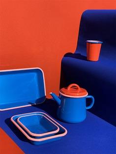 Colorama Electric Blue BORNN Enamelware