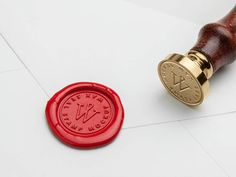 Free Wax Seal Stamp Mockup PSD Template