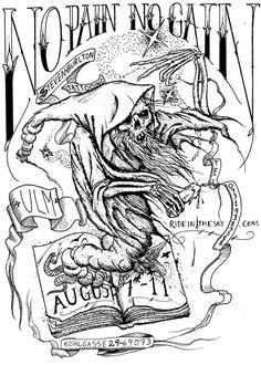 Burlton #reaper #illustration #death #tattoo
