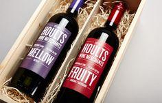 Hoults Wine Merchants branding by A.N.D. Studio