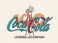 COLOURS AND LINES PART TROIS on Behance #illustration #coca cola #lines #colours #icon #james oconnell #jamesp0p