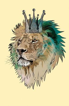 'The King' by Matt Fontaine Digital Art from #leon