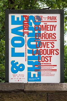 Poster at Central Park. #scher #paula #design #graphic #typography