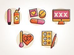 Sex #illustration #color #icons