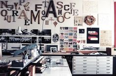 Swiss Cheese and Bullets - Journal - Inside the Eames Office #creative #design #office #furniture #type #eames