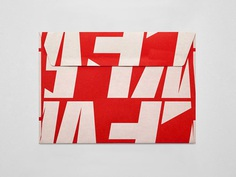 Graphic identity and invitation envelope for London Fashion Week by Pentagram