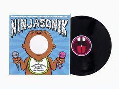 NinjaSonik - SGGP #ninjasonik #record #illustration #hop #music #type #drawing #hip #typography