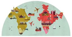 Lotta Nieminen #illustration #globe #map