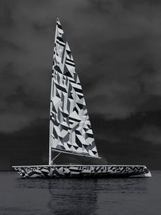 Dazzle Laser Sailboat - today and tomorrow #bantjes #dazzle #greyscale #marian #graphics