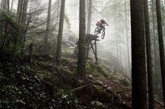 Ryan Berrecloth North Vancouver, B.C. #freeride #bicycle #photo #bike #forest