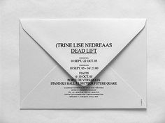 Event10's website - Trine Lise Nedreaas (Dead Lift),Invitation #text #simple #grid #envelope #minimal #typography