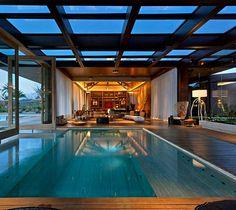 Luxurious Casa Nova Lima with Dramatic Landscape Compositions casa nova lima pool area