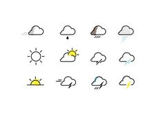 whether weather icon * : welcom to La La Land #icon #vector #weather
