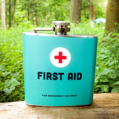 First Aid 6oz or 8oz Liquid Hip Flask