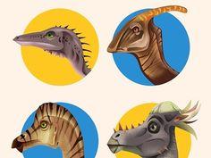 Dribbble - dino by Dave Mott #dave #mott #circles #illustration #dinosaurs